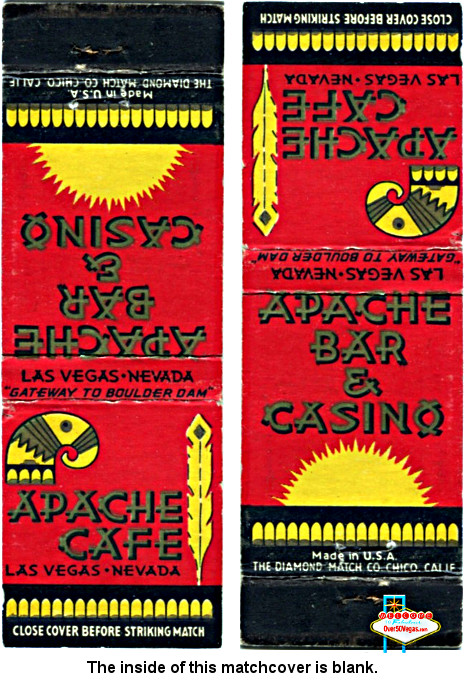 Apache Bar & Casino Las Vegas  match cover