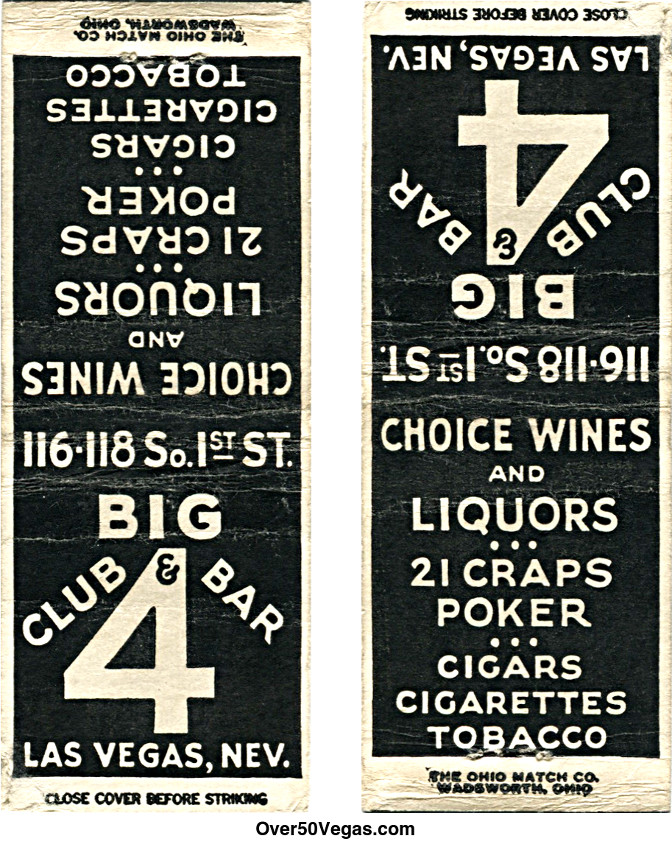 The Big 4 Club opened in 1931 at 112-114 South First Street.