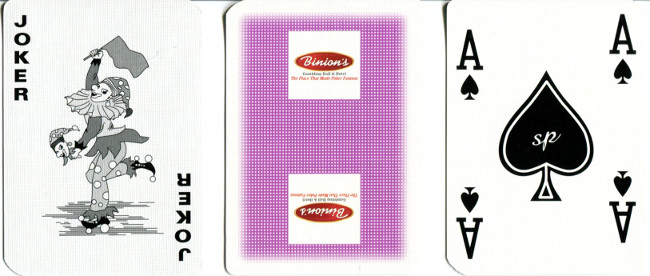 Binion's Gambling Hall Playing cards