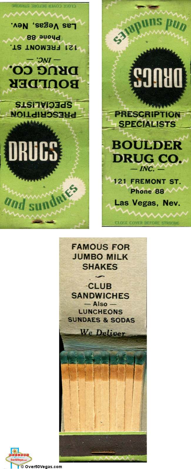 Boulder Drug Company was located at 121 Fremont St.