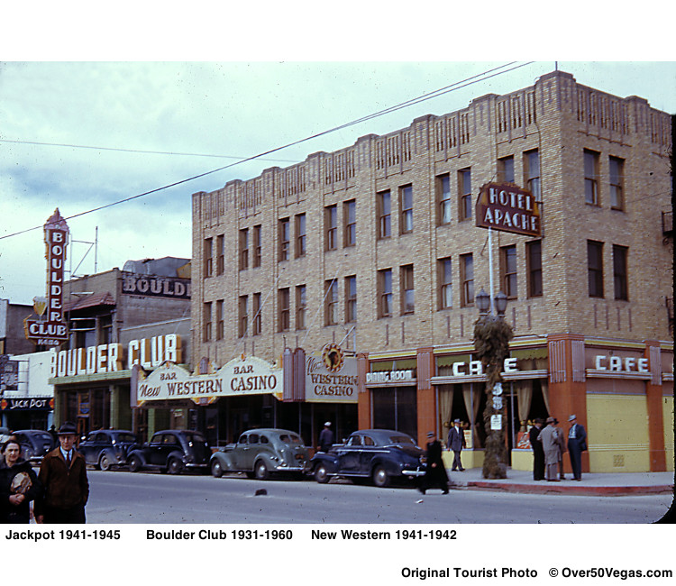 A rare color tourist photo of the Boulder Club circa 1942