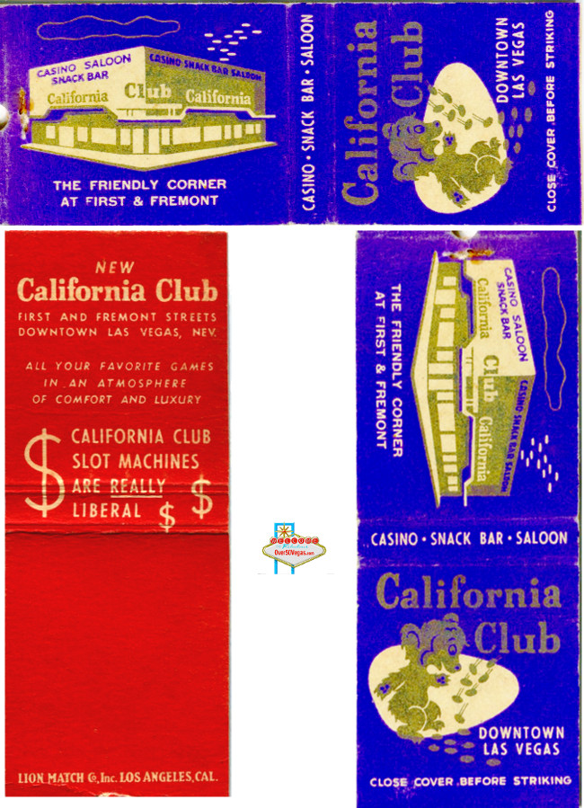 Matchbook from The California Club!