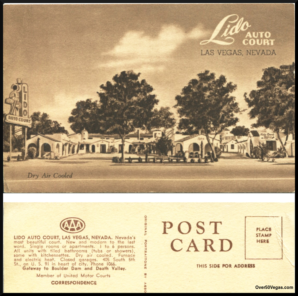 Postcard from the Lido Auto Court.