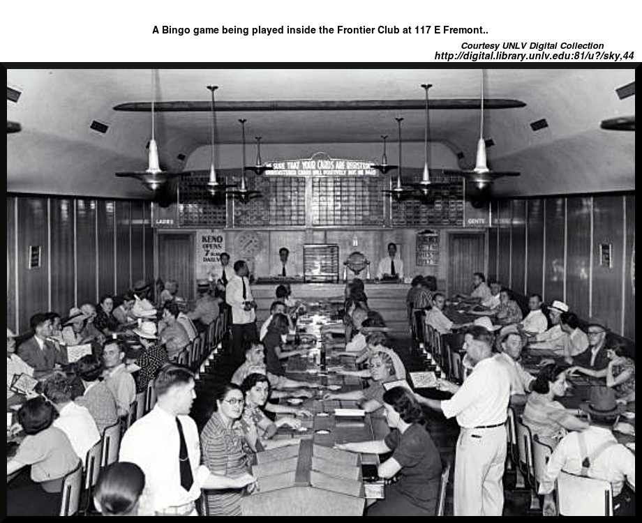 Bingo at the Frontier Club    Courtesy UNLV Digital Collection