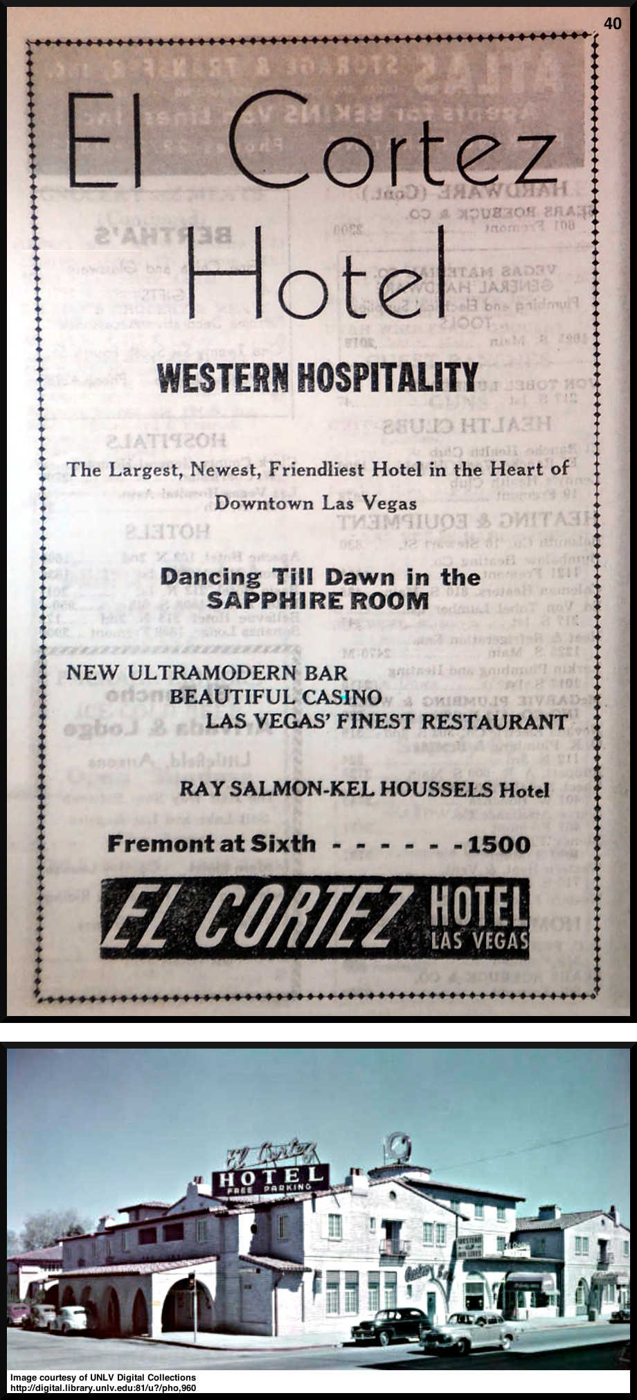 El Cortez photo is courtesy of UNLV Digital Collections