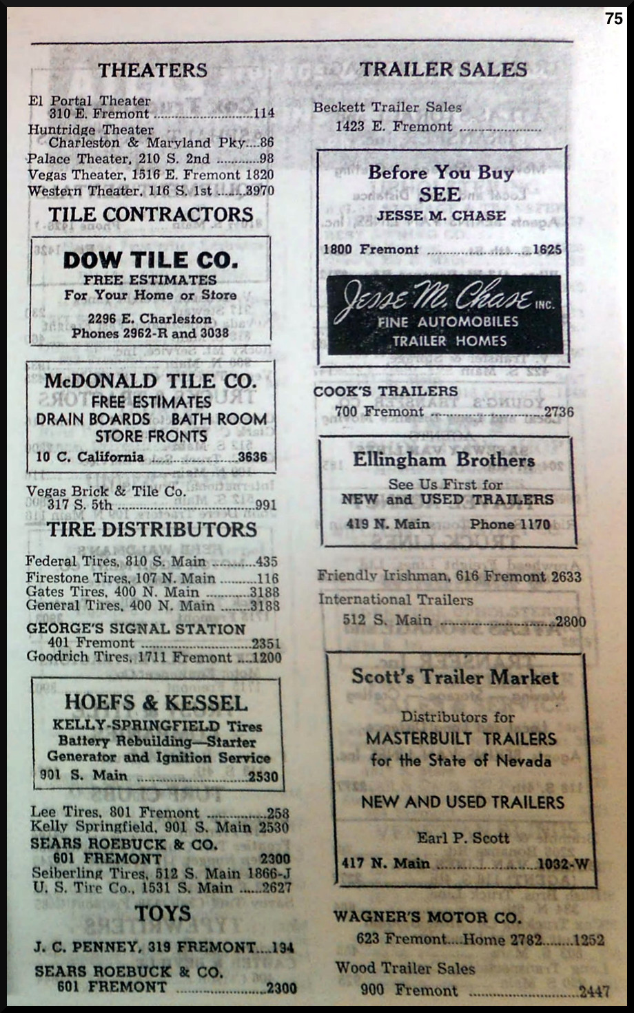 1947 Las Vegas Classified Directory - Over50Vegas.com