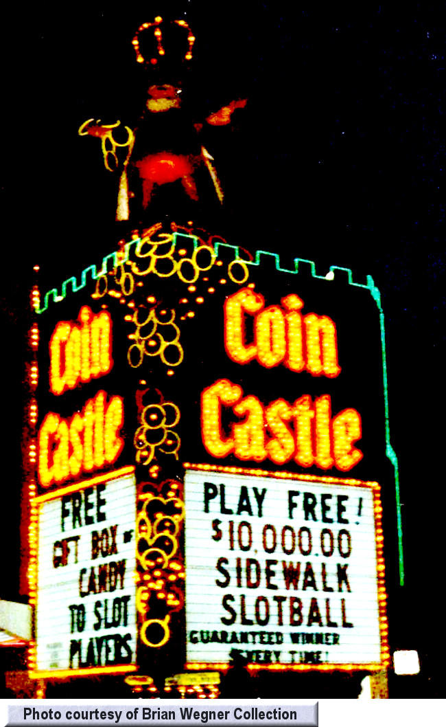 Coin Castle at night from the Brian Wegner Collection
