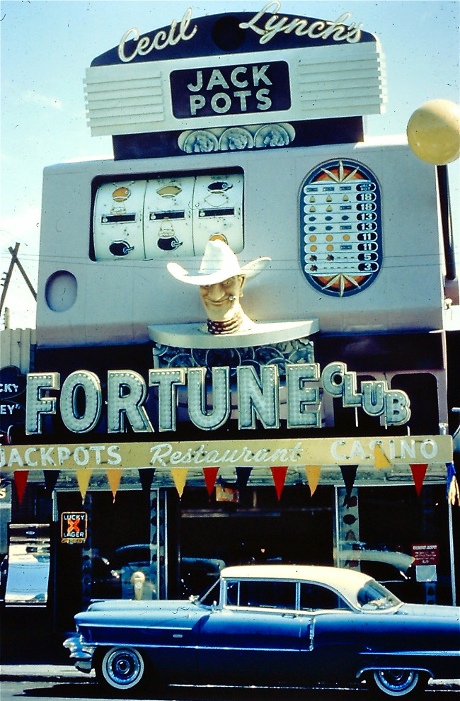 Cecil Lynch's Fortune Club at 22 Fremont St. was a slots only club.