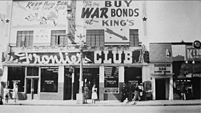During World War II, the Frontier Club advertised war bonds.