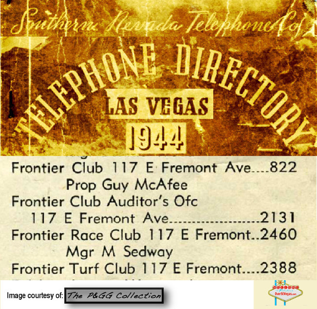 Frontier Club 1944 phone listing