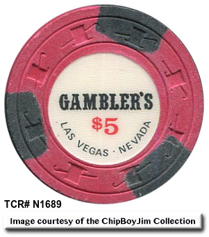 Gambler's Hall of Fame $5 chip from ChipBoy Jim!