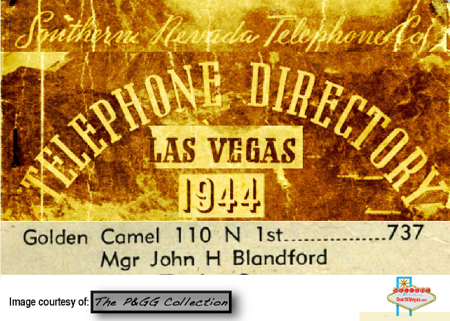 John H. Blandford was the manager of the Golden Camel in 1944.