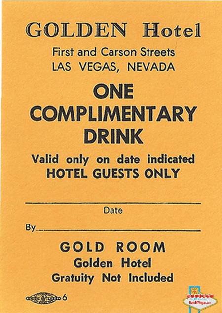 Golden Hotel Las Vgeas, NV coupon