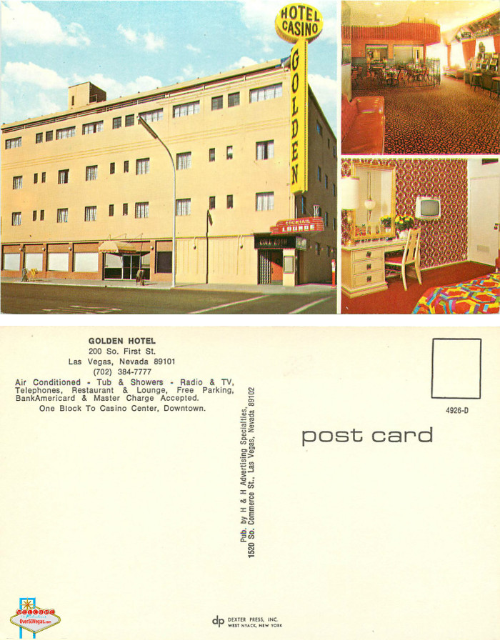 Golden Hotel postcard