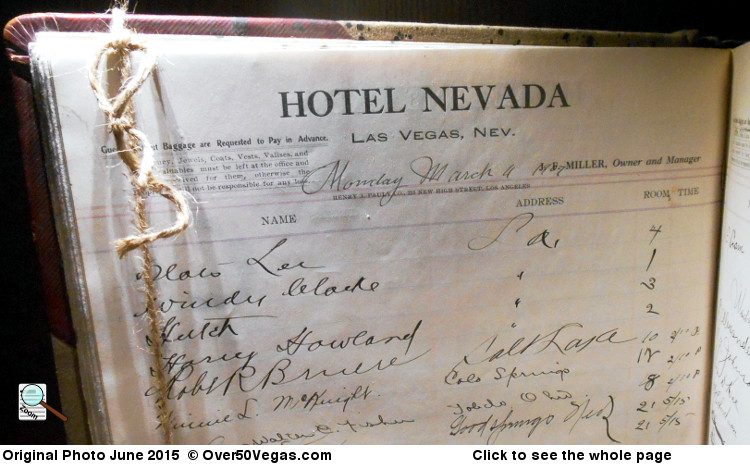 Hotel Nevada guest register showing the sign-in page from March 4, 1907