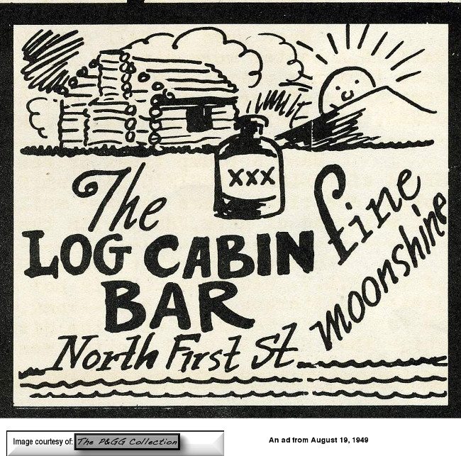 An ad from 1949 for the Log Cabin Bar at 122 N. 1st Street in downtown Las Vegas