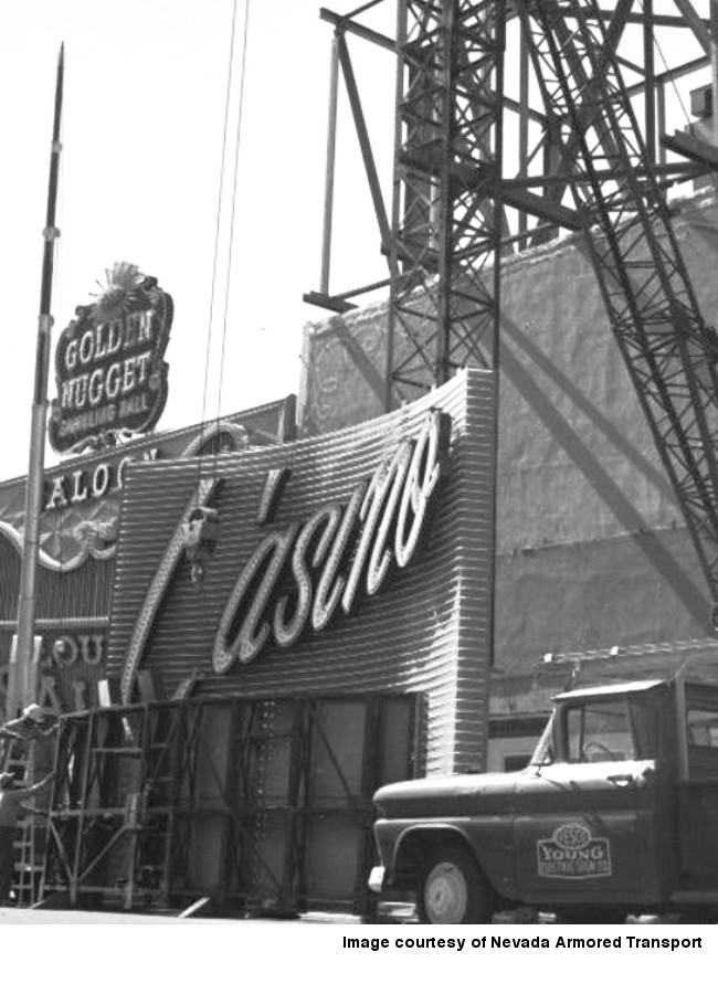 Lucky Casino sign was erected by the Young Electric Sign Company 