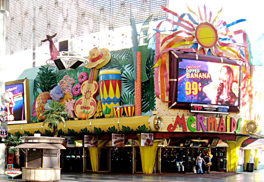 Mermaids Casino on Fremont street in Las Vegas, NV 2013