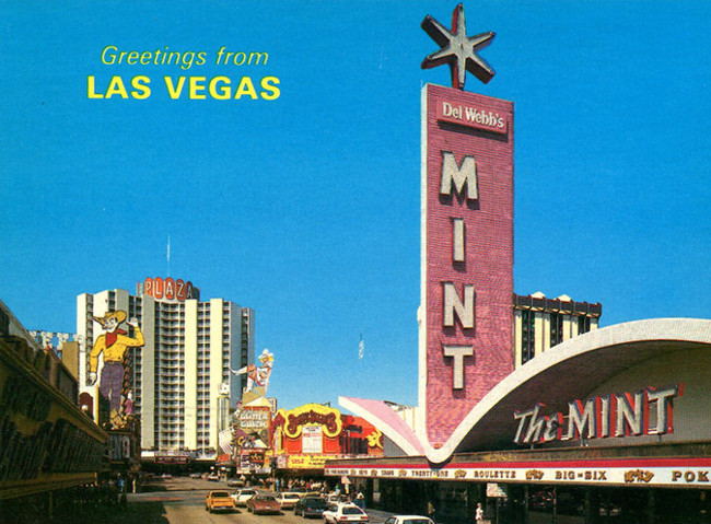 "The Mint was called ""the new star on Fremont Street"" because it had an impressive 16 foot star at the top of its nine story tall sign."