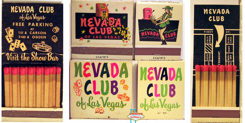 Nevada Club Las Vegas matchbooks