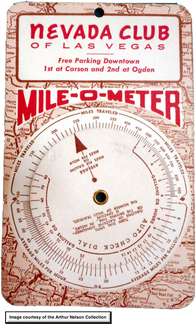 Nevada Club downtown Las Vegas Mile-O-Meter