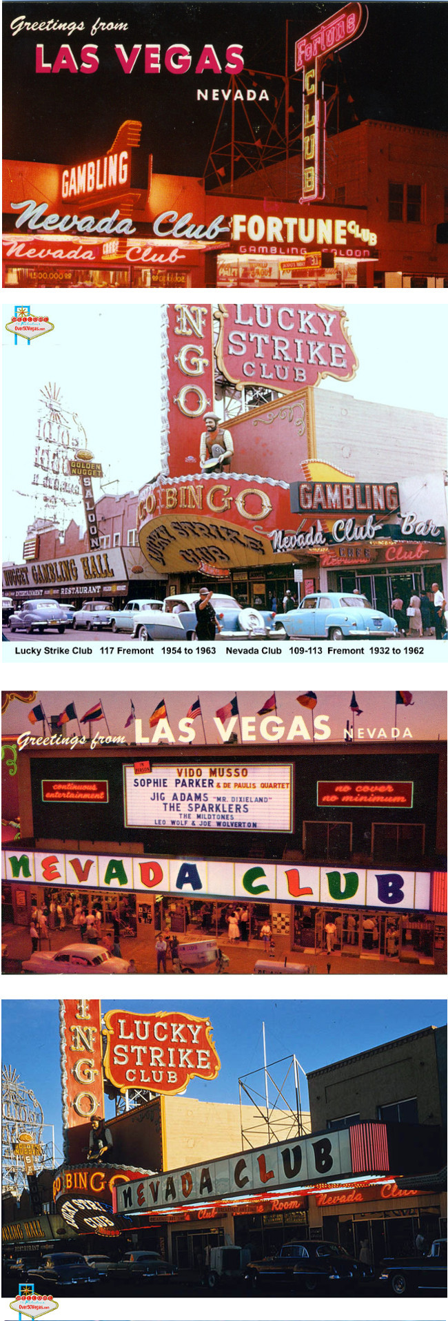Nevada Club Postcards