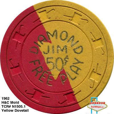 Diamond Jim's Nevada Club Las Vegas chip