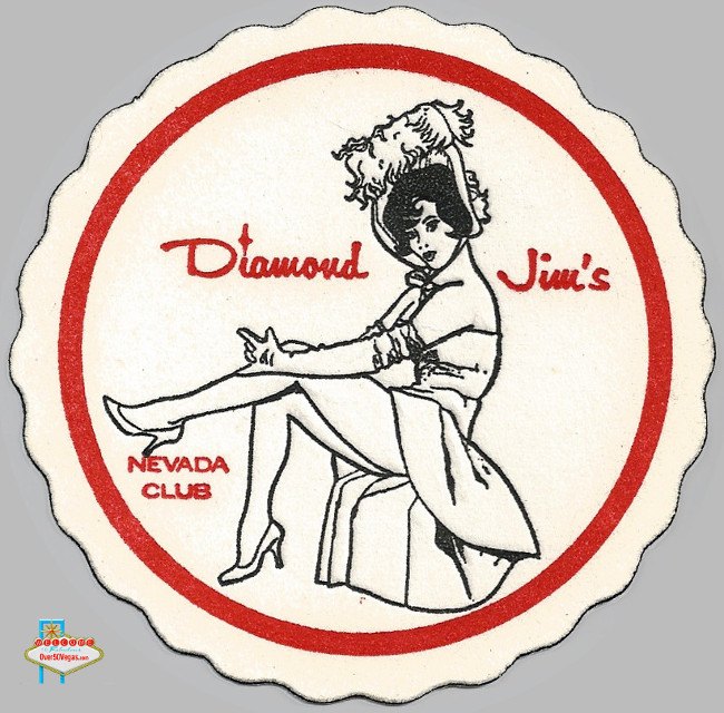 Diamond Jim's drink coaster