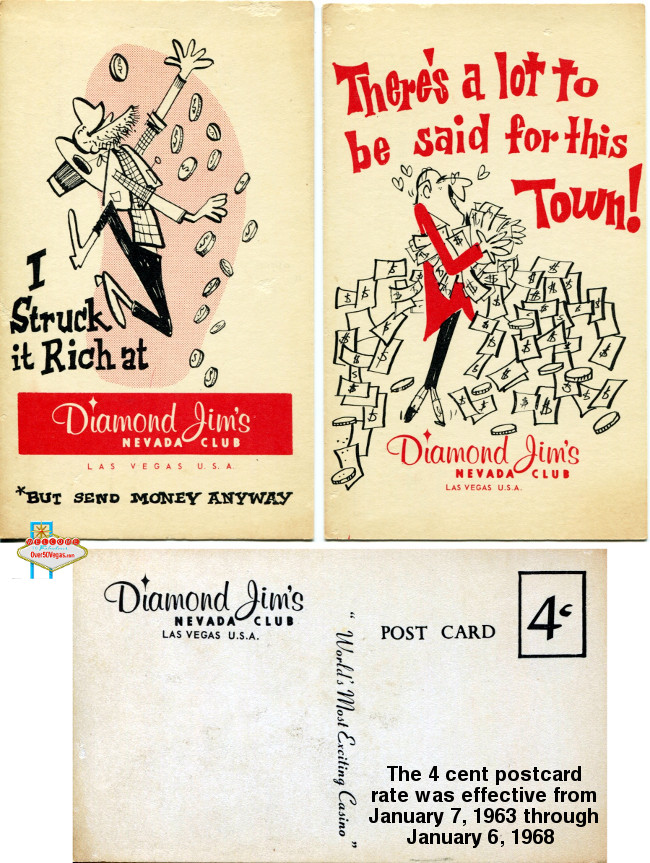Diamond Jim's Nevada Club postcard