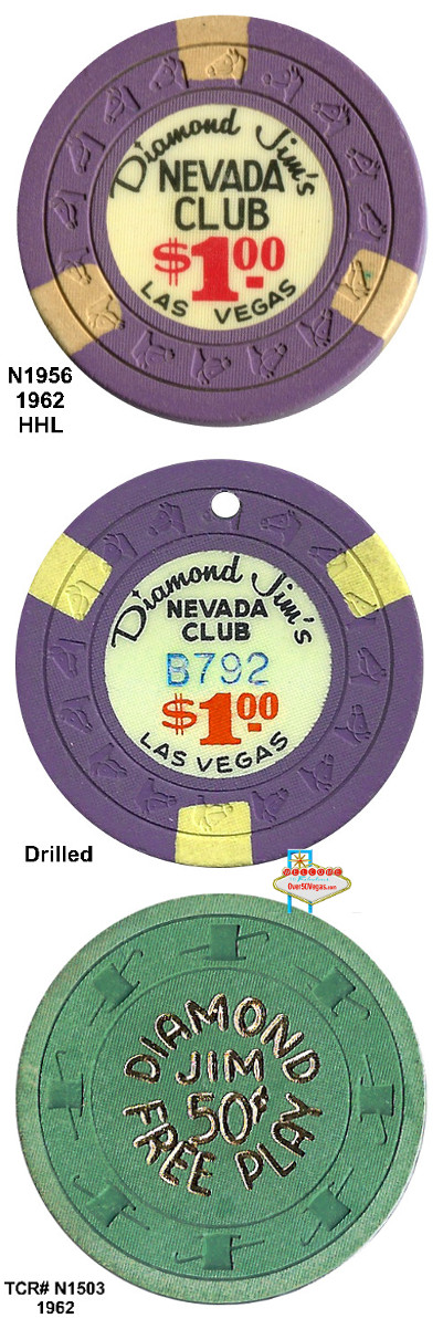 Diamond Jim's Nevada Club Las Vegas Chips