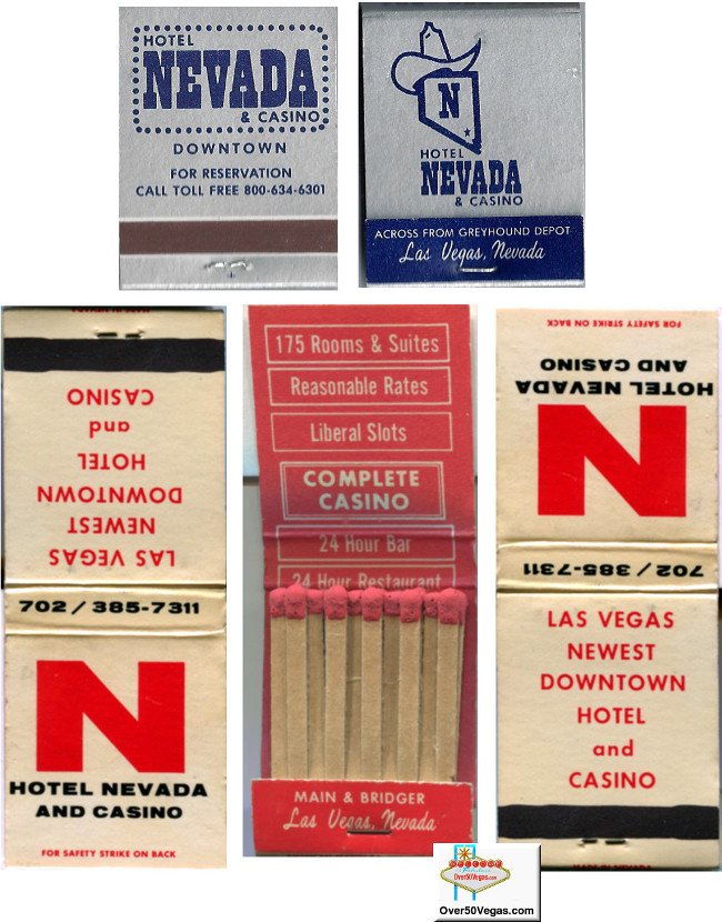 Hotel Nevada matchbooks