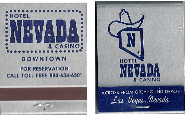 Nevada Hotel and Casino matchbook