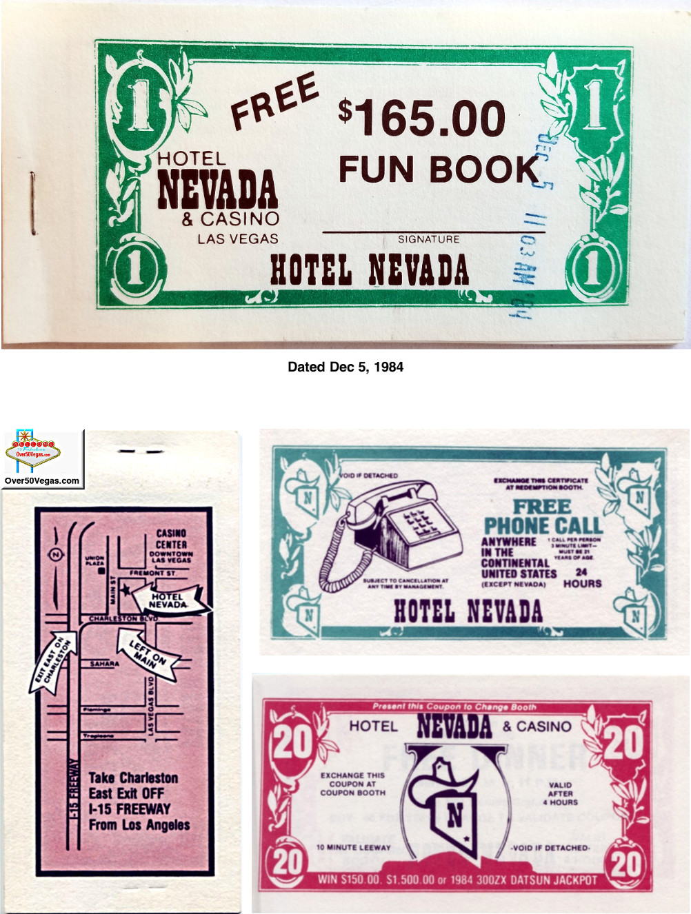 Hotel Nevada & Casino Fun Book