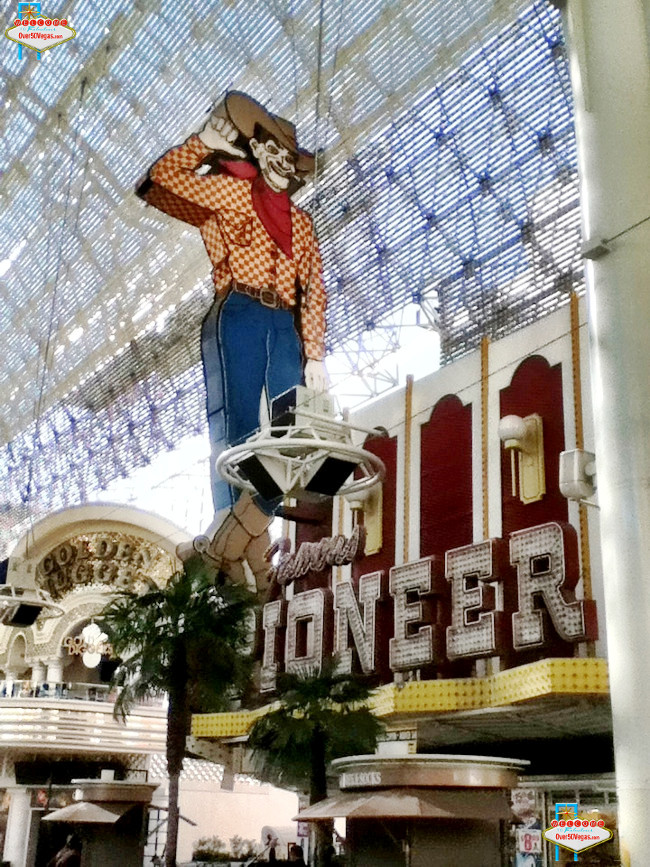 Today Vegas Vic still stands tall on Fremont Street in downtown Las Vegas.