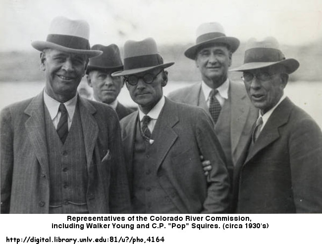 Pop Squires with other members of the  Nevada Colorado River Commission