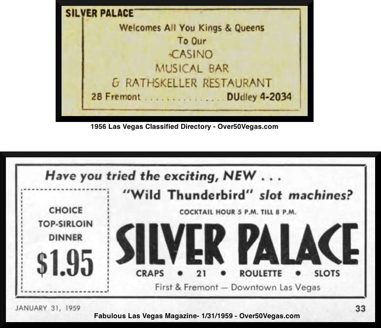 Advertising for the Silver Palace in Fabulous Las Vegas Magazine-1959 