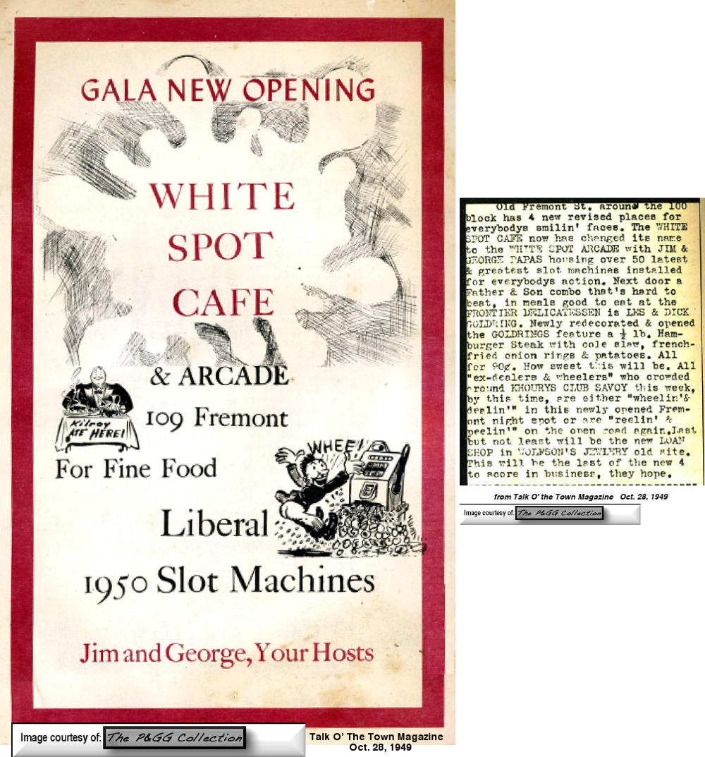 White Spot ad from 1949
