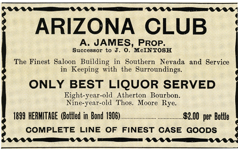 Arizona Club Las Vegas best Liquor Served
